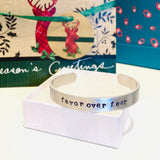 NEW! Personalized Custom Name or Quote Metal Stamped Cuff Bracelet Bangle