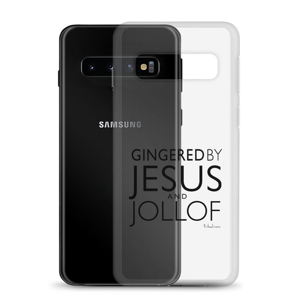 Gingered by Jesus and Jollof Samsung Graphic Phone Case - Black Print