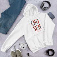 Chosen Just Because Ankara Print Graphic Hoodie