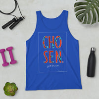 Chosen Just Because Ankara Print Graphic Tank Top
