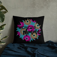 Wonder Momma Ankara Print Graphic Premium Pillow