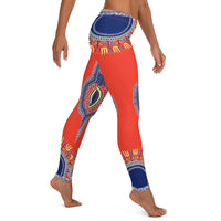 Right Side View of African Angelina Print Dashiki Leggings - Tribal Marks - identity, truth and culture lifestyle brand