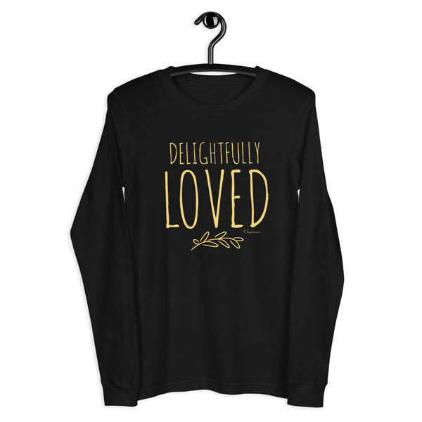 Delightfully Loved Long Sleeve Empowering Graphic Tee