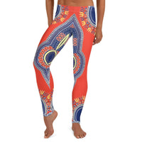 Front View of African Angelina Print Dashiki Leggings - Tribal Marks - identity, truth and culture lifestyle brand