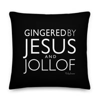 Gingered by Jesus and Jollof Premium Throw Pillow with cushion insert