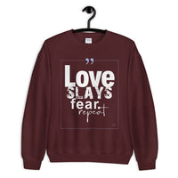 Tribal Marks - Love Slays Fear. Repeat Sweatshirt - Beloved Sage Collection