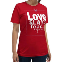 Tribal Marks - Love Slays Fear. Repeat T-Shirt - Beloved Sage Collection