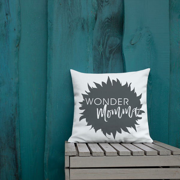 Wonder Momma Print Graphic Premium Pillow