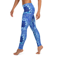 Left Side View of the Vintage Seal Print Ankara African Leggings - Tribal Marks - Identity, Truth and Culture Lifestyle Brand