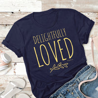 Flatlay - Delightfully Loved T-Shirt - Tribal Marks Lifestyle Christian Apparel