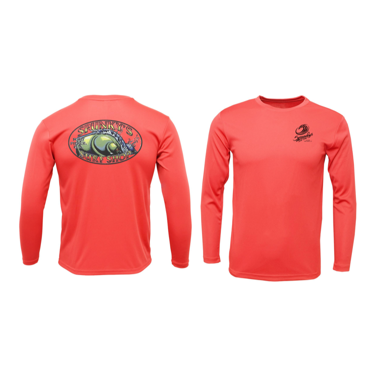 Spunky's - T-Shirt UPF 50 - Sss - The Wave - Crew L/S - Mens