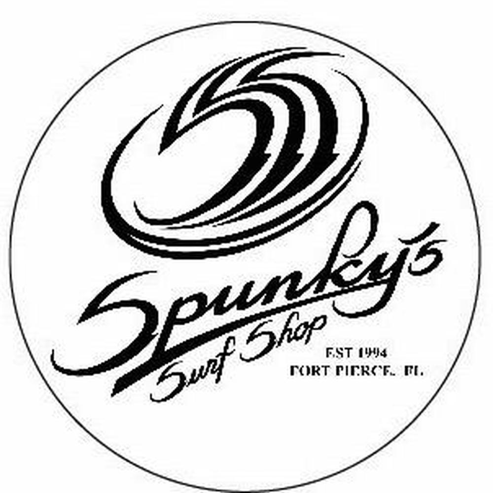 "Spunky's Surf Shop - SSS est 1994 - 4"" Sticker round/white"