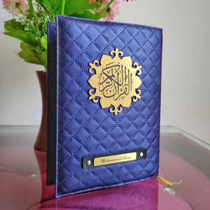 Blue Quilted Quran Cover - Make My Thingz