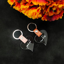 Load image into Gallery viewer, Heart shaped couple keychain - Make My Thingz