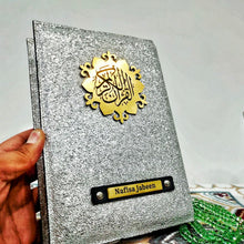 Load image into Gallery viewer, Silver Glitter Quran Cover - Make My Thingz