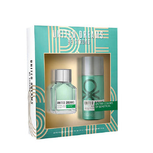 Set Benetton United Dreams Be Strong  EDT 100 ml + Desodorante 150 ml