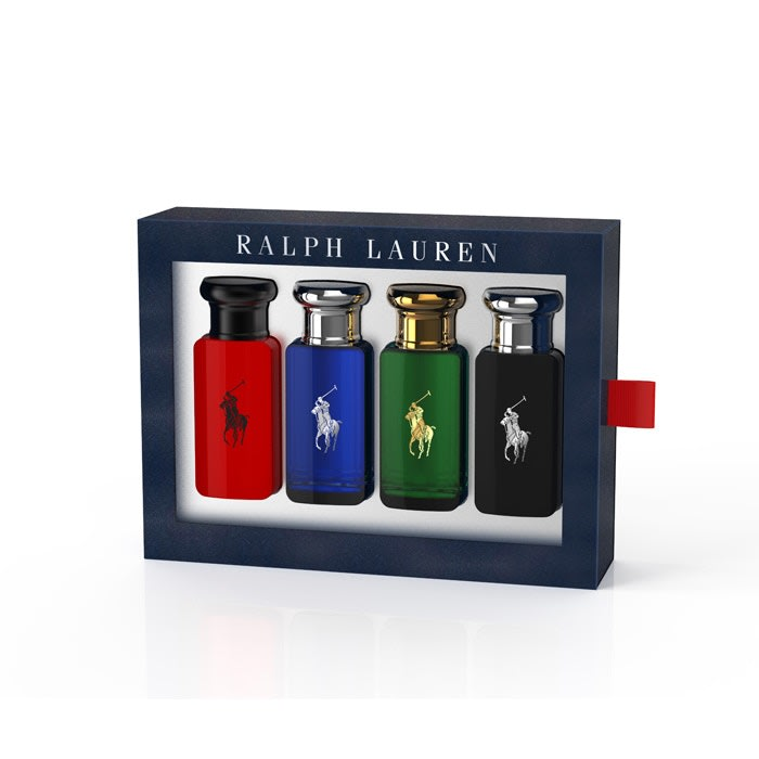 Estuche Polo Verde 30 ml + Polo Blue 30 ml + Polo Black 30 ml + Polo Red 30 ml Ralph Lauren