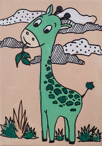 Ellie The Giraffe - Acrylic Painting