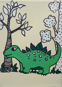 Grace The Stegosaur - Acrylic Painting