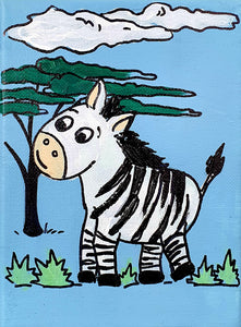 Dan The Zebra - Acrylic Painting