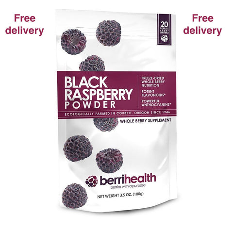Berrihealth - 100% Freeze Dried Black Raspberry Powder (100g)