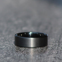 Load image into Gallery viewer, Brushed Black on Polished Black - Tungsten Carbide Ring