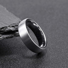 Load image into Gallery viewer, Brushed Silver on Polished Silver - Tungsten Carbide Ring