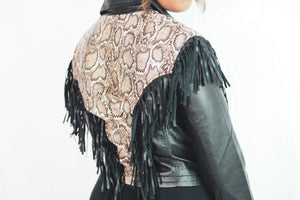 That Girl is Poison - Fringed Leather Jacket