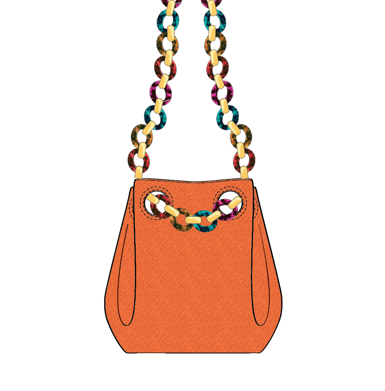 Bucket Bag W/ Tortoiseshell Chain Strap - Advanced