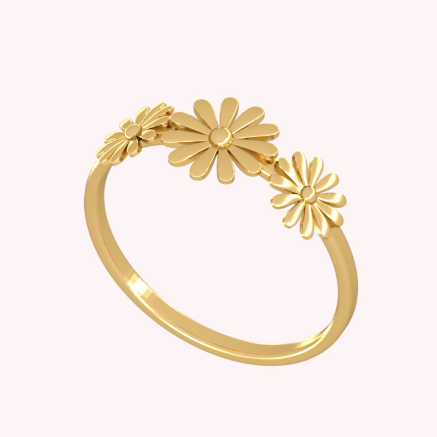 Delicate Wildflower Ring - 3D Basic