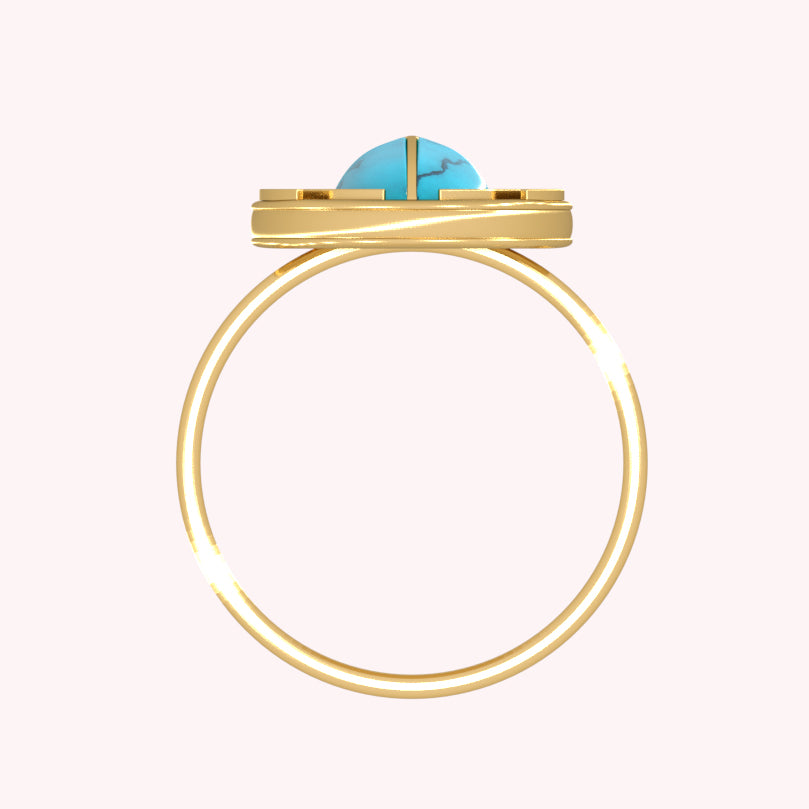 Egyptian Scarab Statement Ring - 3D Advanced