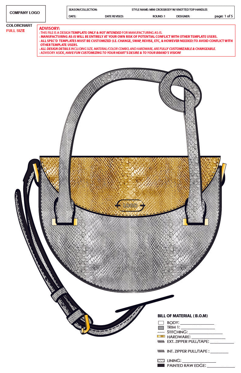 Mini Crossbody W/ Knotted Top Handles-Advanced