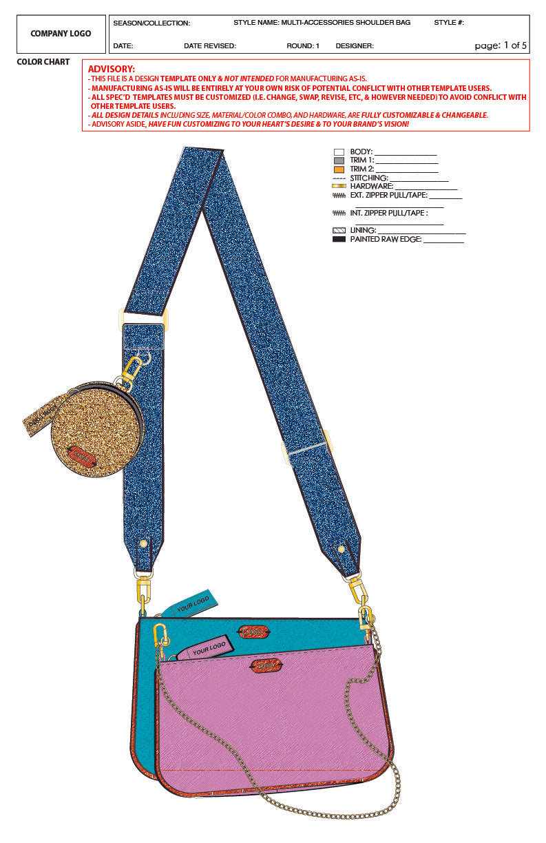 Multi-Accessories Shoulder Bag - Premier