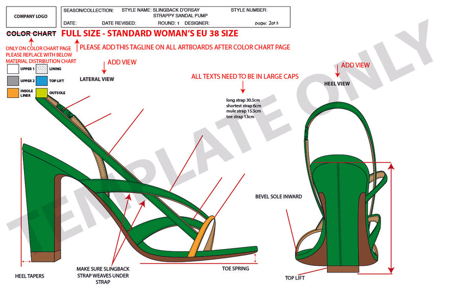 Slingback Dorsay Strappy Sandal Pump - Advanced