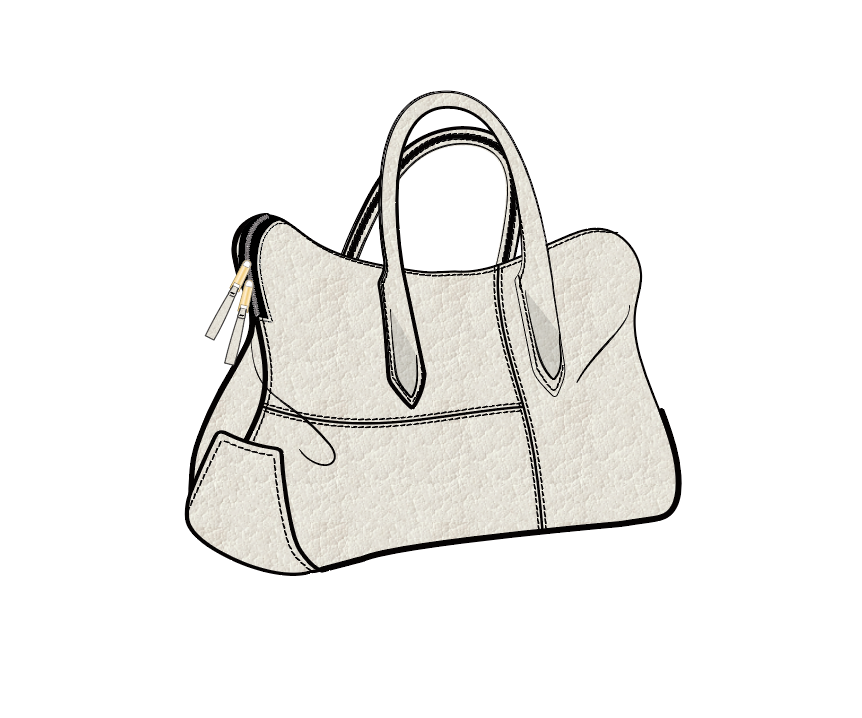 Slouchy Tote W/ Top Handle- Basic
