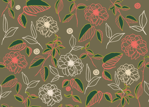Spring Vines Repeat Print