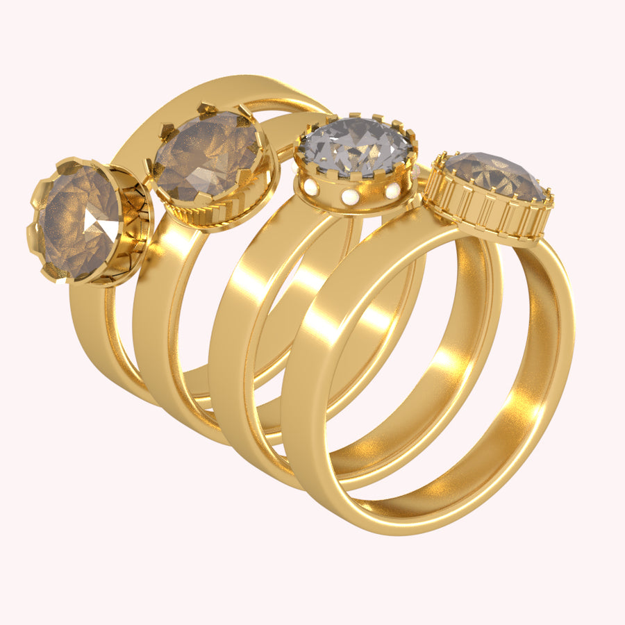 Vintage Stacked Rings Bundle- 3D Advanced