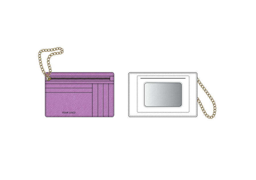 Zip Card Case W/ Chain Wristlet - Basic