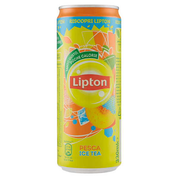 6 x Ice Tea Lipton alla pesca in lattina 33cl - Consegna cibo in veneto - Degustalo | Drink At Home