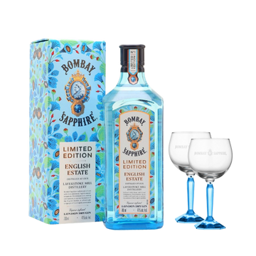Bombay English Estate 70cl con 2 Bicchieri Brandizzati