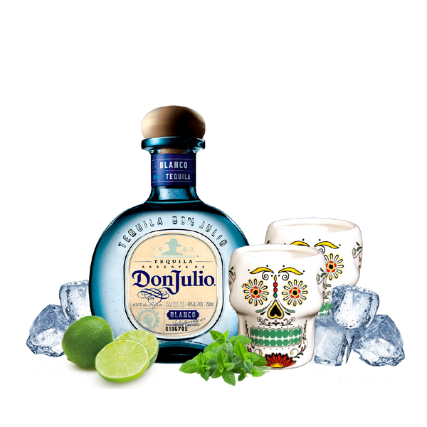 Don Julio Blanco Reserva Tequila + 2 Skull Mug - Consegna cibo in veneto - Degustalo | Drink At Home