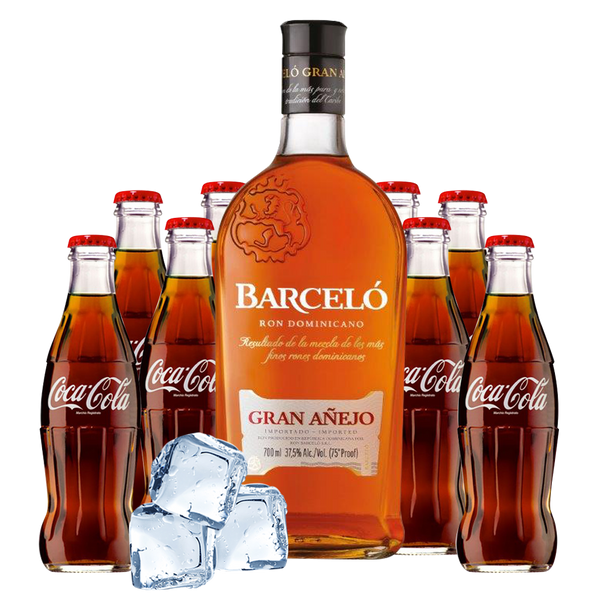Ron Barcelò Gran Anejo Box con Coca Cola - Consegna cibo in veneto - Degustalo | Drink At Home