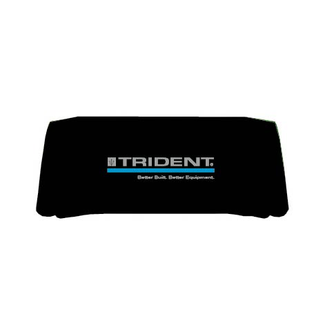 Trident, Better Built. Better Equipment. 8' Black Table Throw