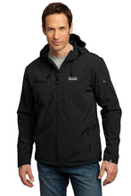 Load image into Gallery viewer, Port Authority Textured Hooded Soft Shell Jacket