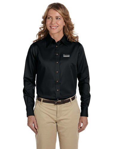 Ladies' Easy Blend Long Sleeve Twill Shirt with Stain Release