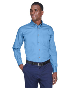 Men's Easy Blend Long Sleeve Twill Shirt with Stain Release