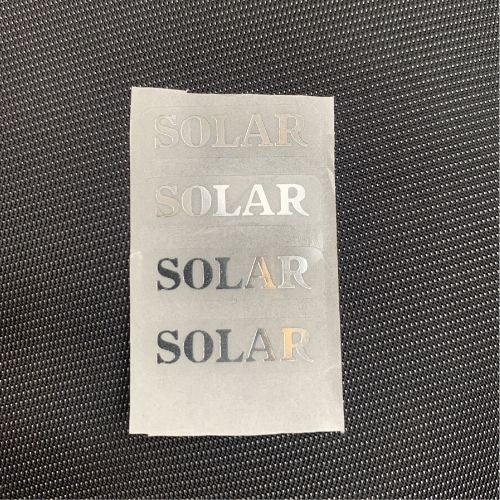 4 x SPARE SOLAR BUZZ BAR STICKERS