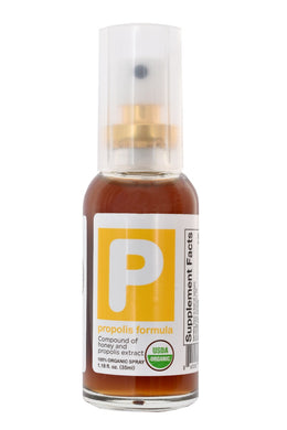 Propolis Formula 100% USDA Organic Throat Spray