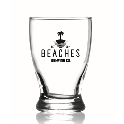 Beaches Brewing Co. Logo Taster Glass - 5 oz - Set of 4