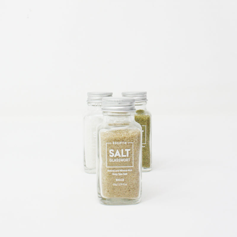 Premium Gray Sea Salt Sampler Set (Original, Matcha, Glasswort)